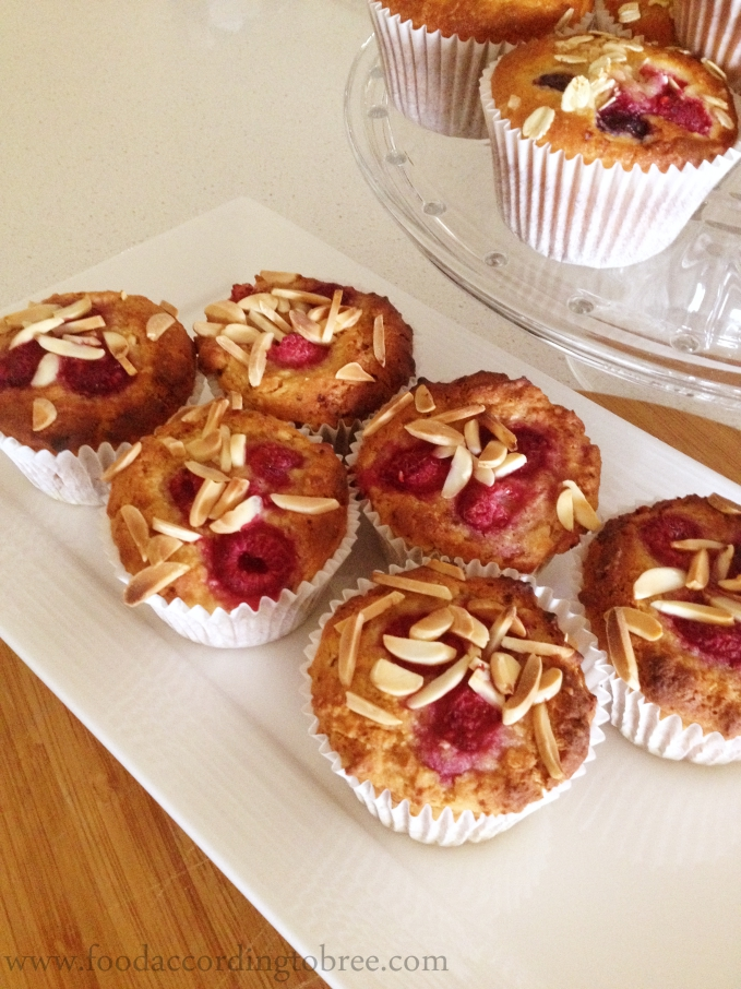 GF Raspberry, Coconut and Almond Muffins