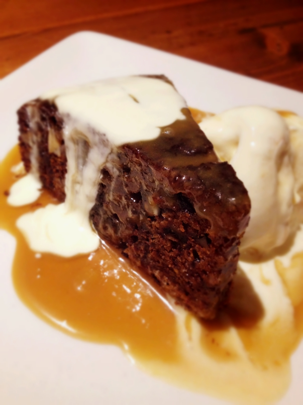 Sticky Date and Pecan pudding with Salted Caramel sauce