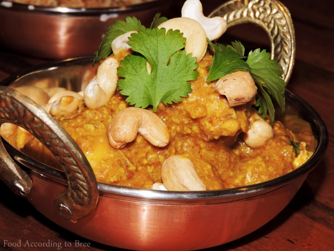 Chicken and Cashew Korma