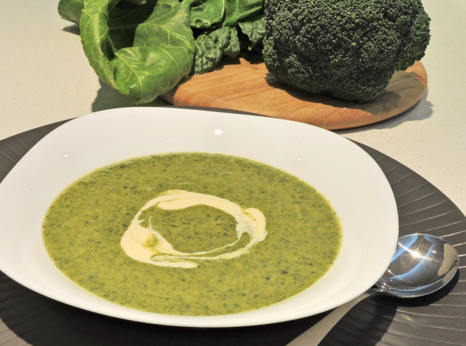 Spiced Spinach and Broccoli soup 2