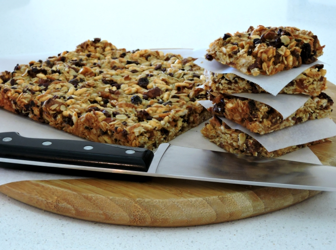 Fruit and Cacao Muesli Slice
