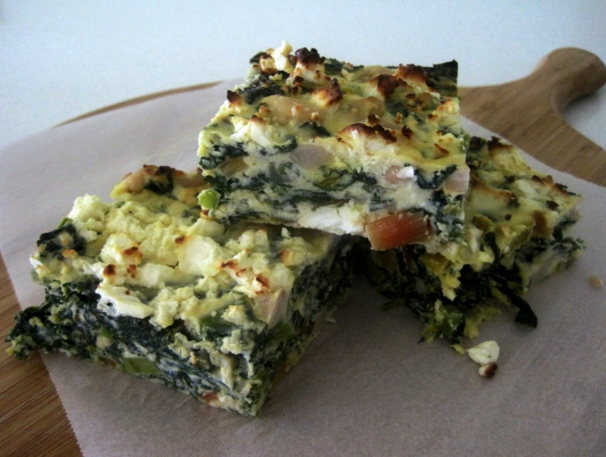 Rainbow Chard, Kale and Cannellini Bean slice