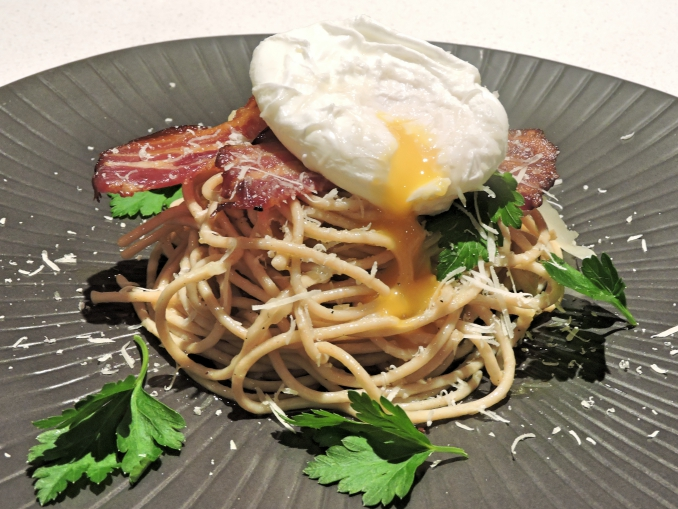 Whole Wheat Carbonara… with a twist