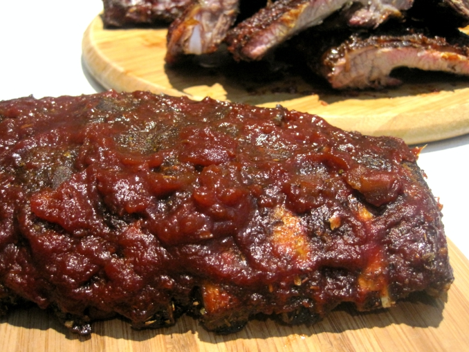 Jamaican Jerk Pork Ribs with Spiced Rum sauce