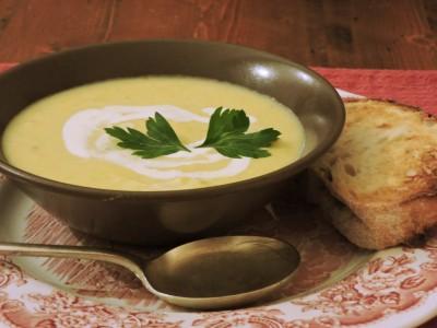 Vintage Cheddar and Parsnip soup