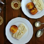 Eggnog Semifreddo with Grilled Peaches