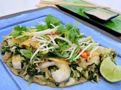 Blue Swimmer & King Prawn Omelette with Coconut Tamarind sauce
