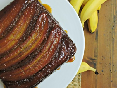 Banana Gingerbread Upside-Down Cake