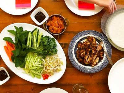 'DIY' Korean Chicken Cold Rolls