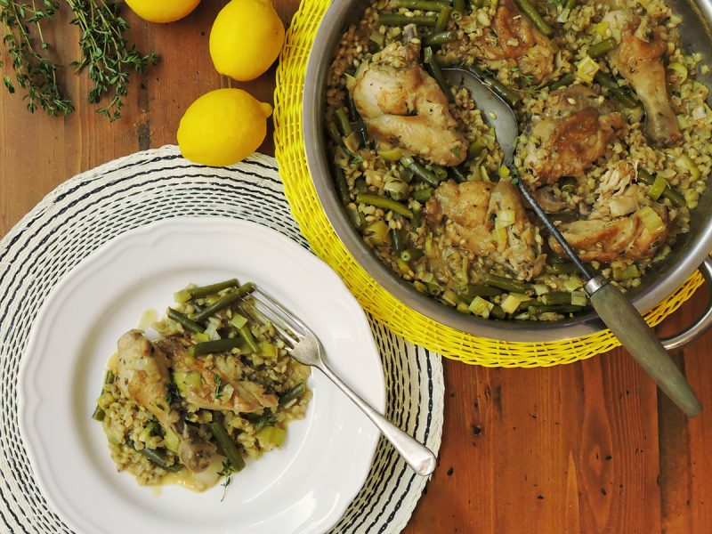 One Pot Lemon Barley Chicken
