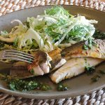 Coorong Mullet with Savoy & Fennel Slaw and Coriander Chimichurri