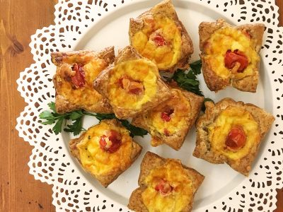 5 ingredient Ham & Tomato Mini-Quiches