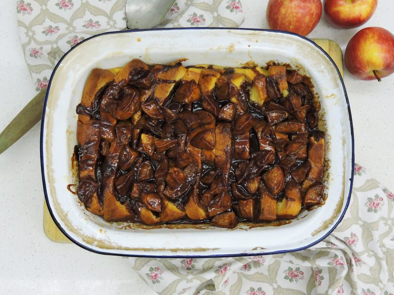 Apple & Cinnamon Bread and Butter Pudding