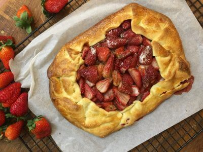 Strawberry and Cardamom Galette