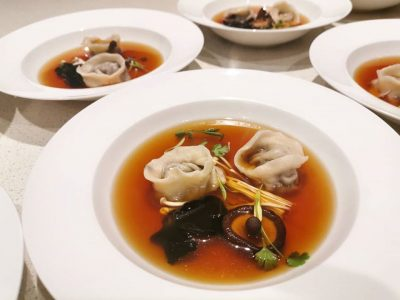 plated soup